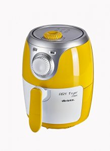 Ariete Airy fryer mini Hot air fryer 2 L Solo Plata, Blanco, Amarillo Independiente 1000 W – Freidora (Hot air fryer, 2 L, 0,4 kg, 80 °C, 200 °C, Solo)
