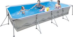 JILONG JL017442NG – Piscina (Piscina con Anillo Hinchable, Rectangular, 6075 L, PVC, Poliéster, Metal, 3940 mm)