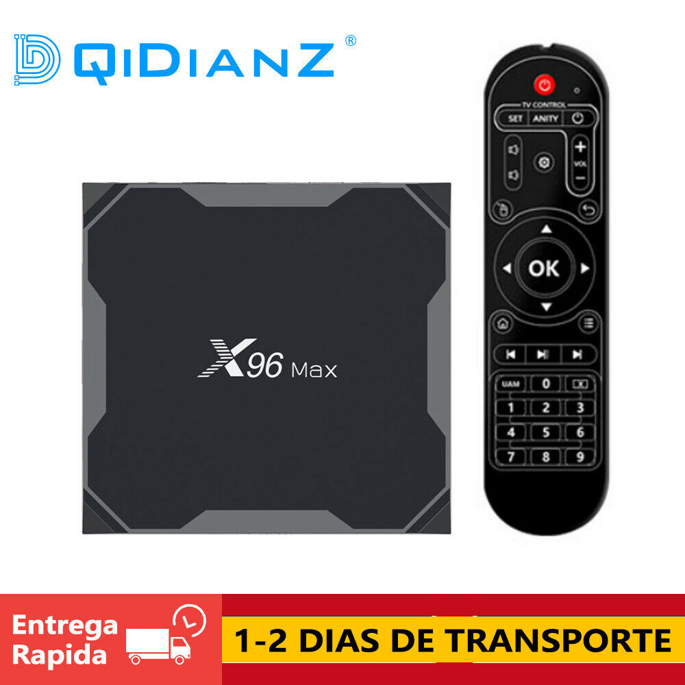DQiDianZ X96 MAX Android 9.0 Amlogic S905X2 Cuatro núcle BT AV WIFI TV BOX CAJA